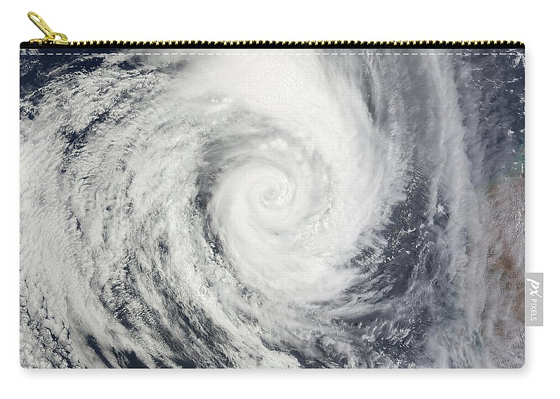 Color Image Carry-all Pouch featuring the photograph Tropical Cyclone Dianne by Stocktrek Images
