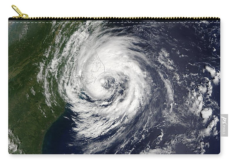 Atlantic Carry-all Pouch featuring the photograph Tropical Storm Gustav by Stocktrek Images