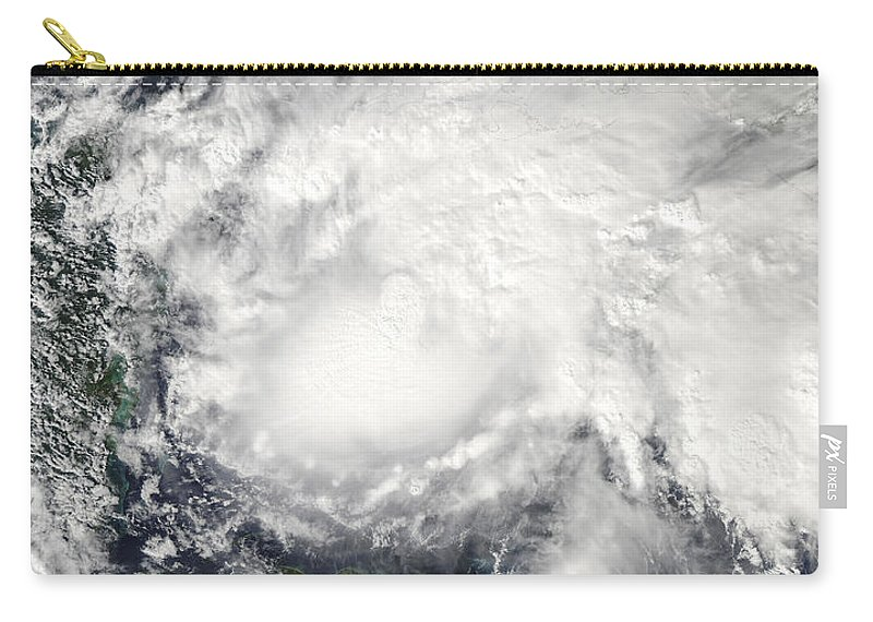 Cyclone Carry-all Pouch featuring the photograph Tropical Storm Ida In The Caribbean Sea by Stocktrek Images