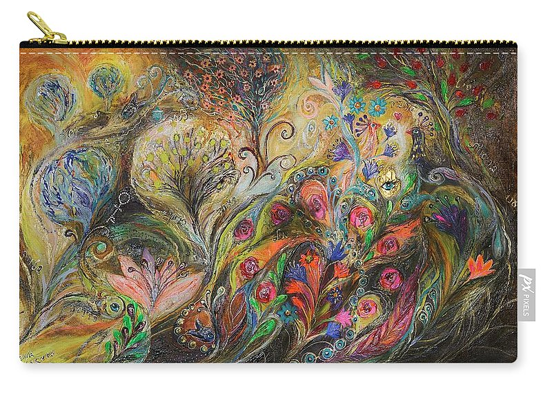 Judaica Carry-all Pouch featuring the painting Under The Wind by Elena Kotliarker