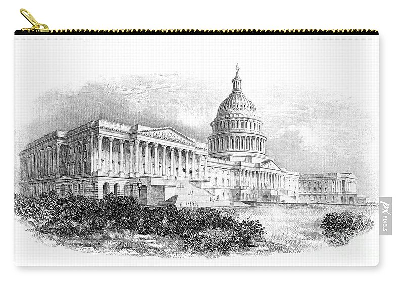 American Carry-all Pouch featuring the photograph U.s. Capitol by Granger