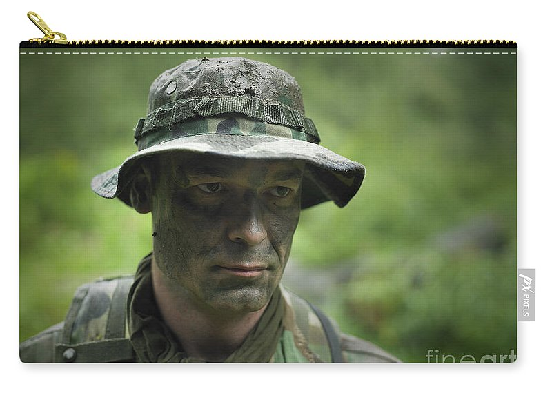 Special Operations Forces Carry-all Pouch featuring the photograph U.s. Special Forces Soldier by Tom Weber