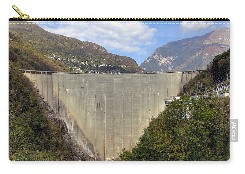 Dam Carry-all Pouch featuring the photograph Valle Verzasca - Ticino by Joana Kruse