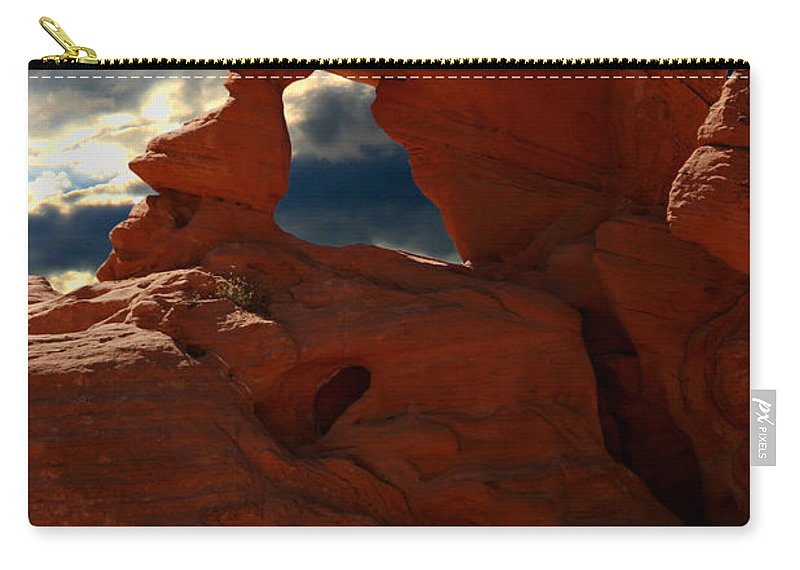 Valley Of Fire Carry-all Pouch featuring the photograph Valley Of Fire by Chris Brannen