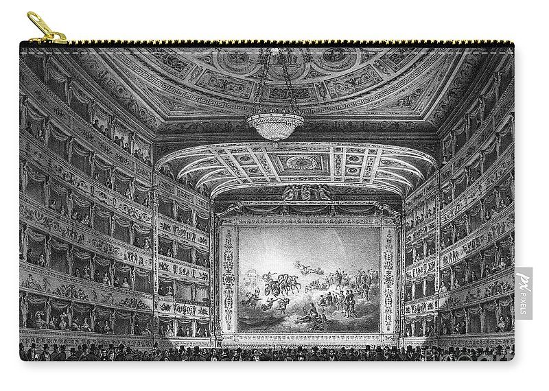 1837 Carry-all Pouch featuring the photograph Venice: Teatro La Fenice by Granger