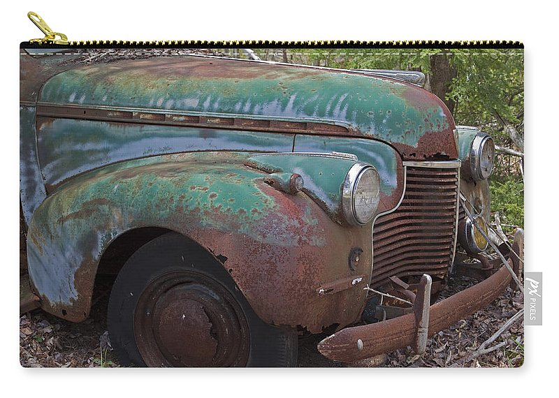 Rustbuckets Carry-all Pouch featuring the photograph Vintage Car by John Stephens