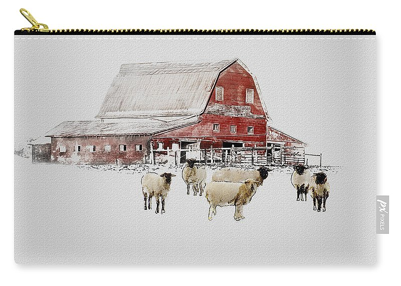 Winter Carry-all Pouch featuring the photograph Weatherbury Farm by Ron Jones