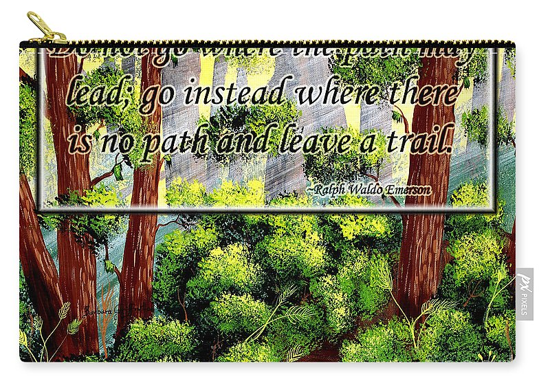 Path Carry-all Pouch featuring the painting Where The Path Leads by Barbara Griffin