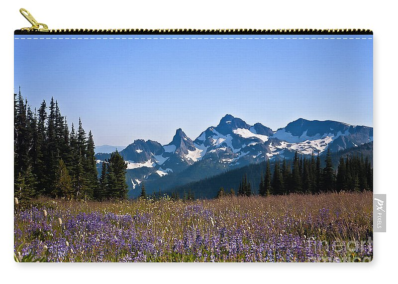 Cascade Carry-all Pouch featuring the photograph Wildflowers In The Cascades by Ronald Lutz