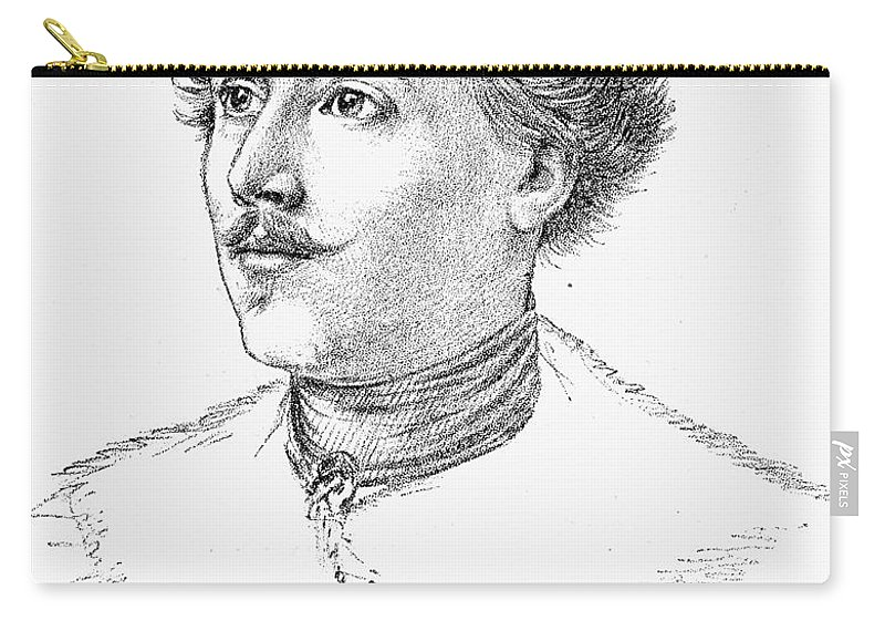 19th Century Carry-all Pouch featuring the photograph Wilhelm Mueller (1794-1827) by Granger