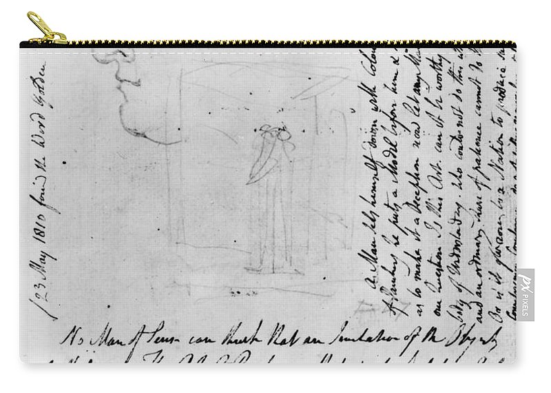 18th Century Carry-all Pouch featuring the photograph William Blake (1757-1827) by Granger
