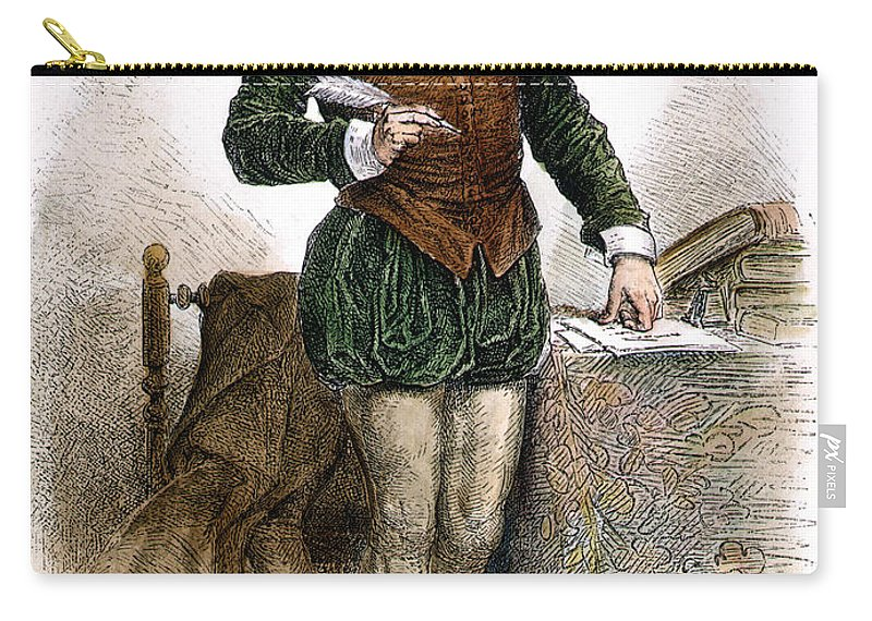 16th Century Carry-all Pouch featuring the photograph William Shakespeare by Granger