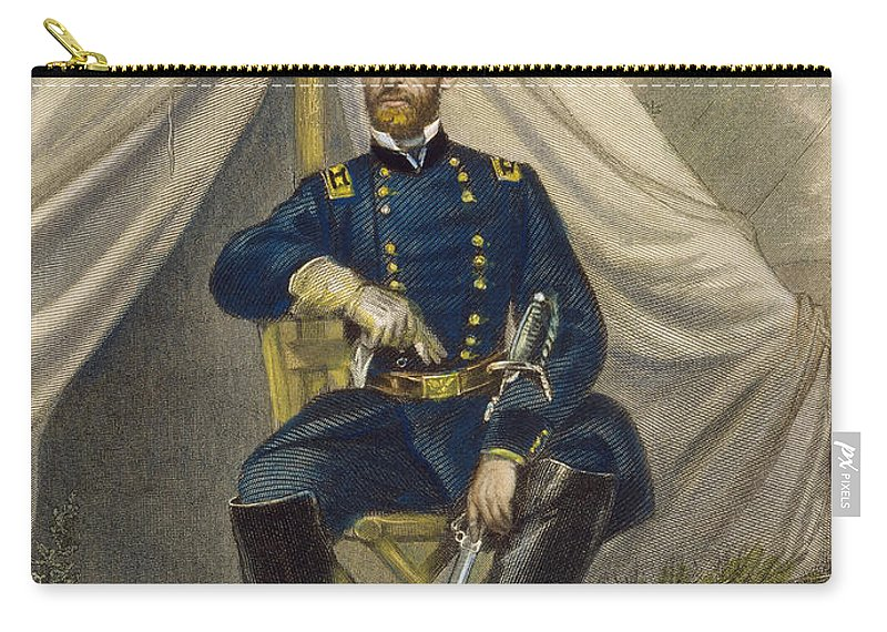 19th Century Carry-all Pouch featuring the photograph William Tecumseh Sherman by Granger