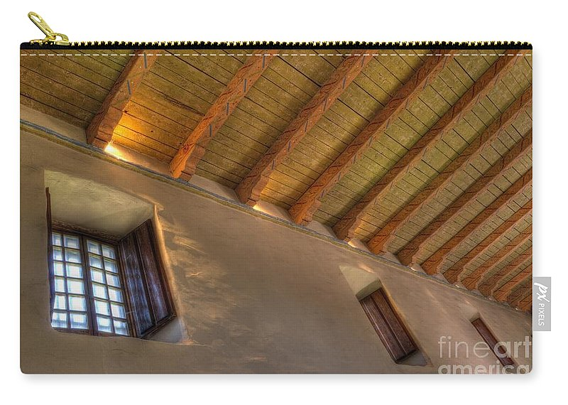 Mission San Diego De Alcala Carry-all Pouch featuring the photograph Window Light by Bob Christopher
