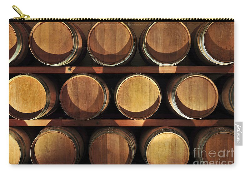 Barrels Carry-all Pouch featuring the photograph Wine Barrels by Elena Elisseeva
