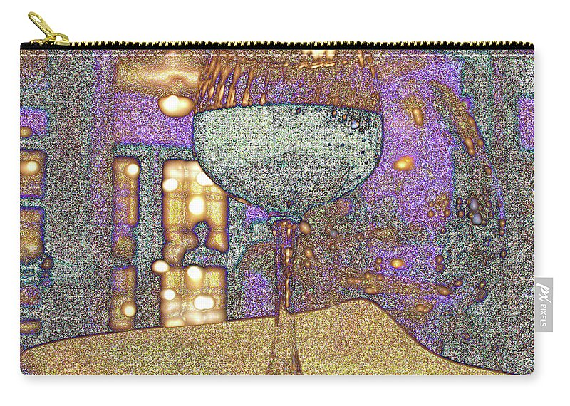 Wine Carry-all Pouch featuring the photograph Wine Glass by Michael Merry