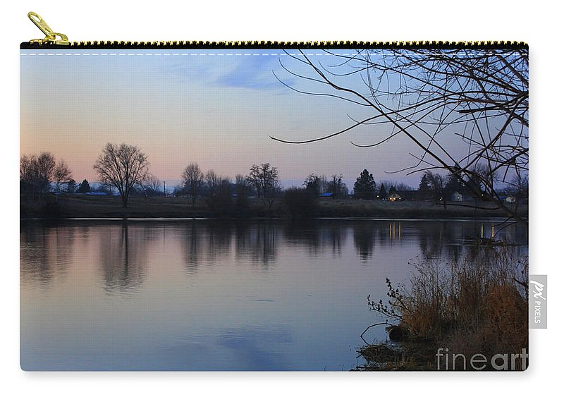 Winter Carry-all Pouch featuring the photograph Winter Calm by Carol Groenen