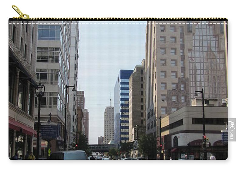 Milwaukee Carry-all Pouch featuring the photograph Wisconsin Ave 1 by Anita Burgermeister