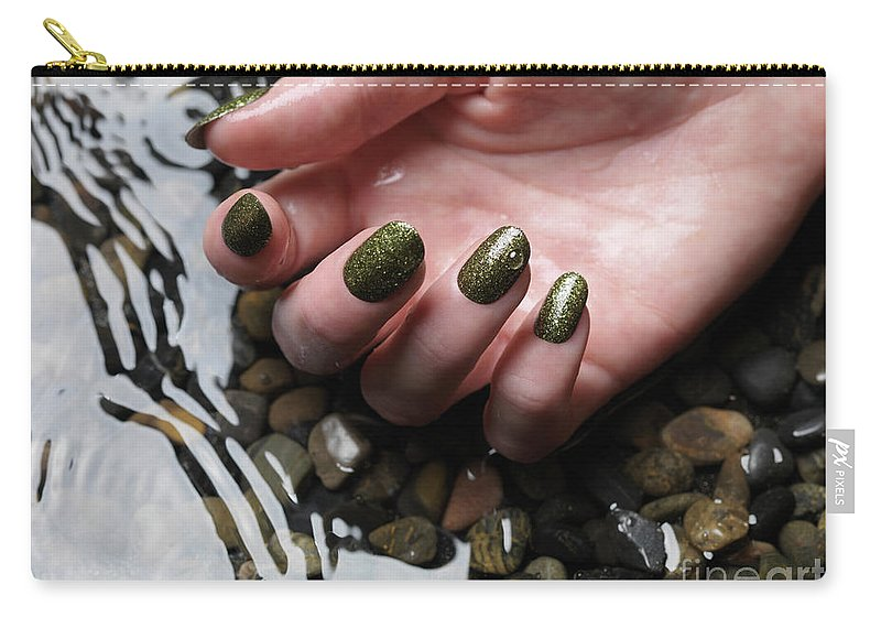 Manicure Carry-all Pouch featuring the photograph Woman Hand In Water by Oleksiy Maksymenko