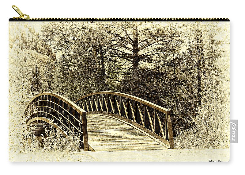 Bridge Carry-all Pouch featuring the photograph Wooden Bridge by Madeline Ellis
