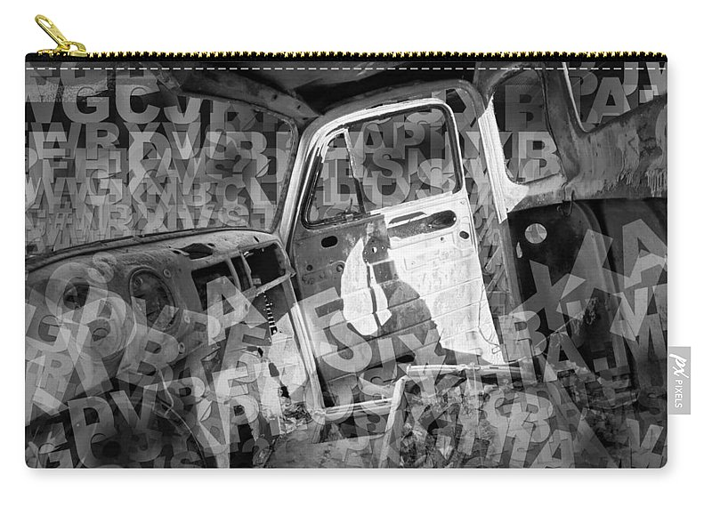 Art Carry-all Pouch featuring the photograph Wreck On The Information Highway by Randall Nyhof