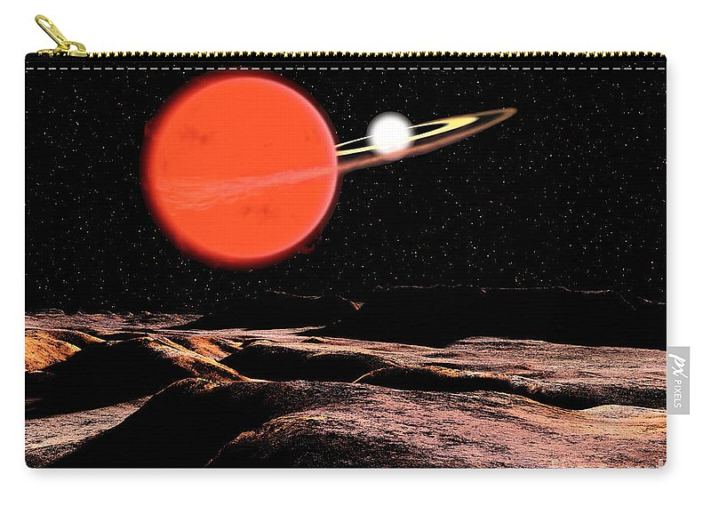 Color Image Carry-all Pouch featuring the digital art Zeta Piscium Is A Binary Star System by Ron Miller