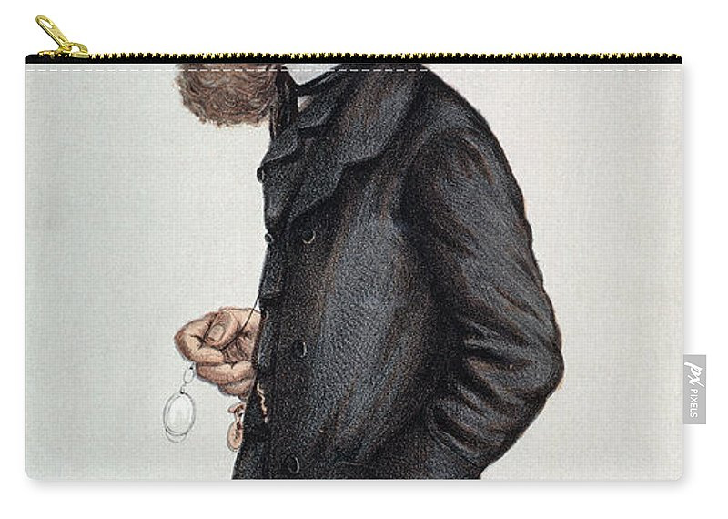 1871 Carry-all Pouch featuring the photograph Alfred Tennyson (1809-1892) by Granger