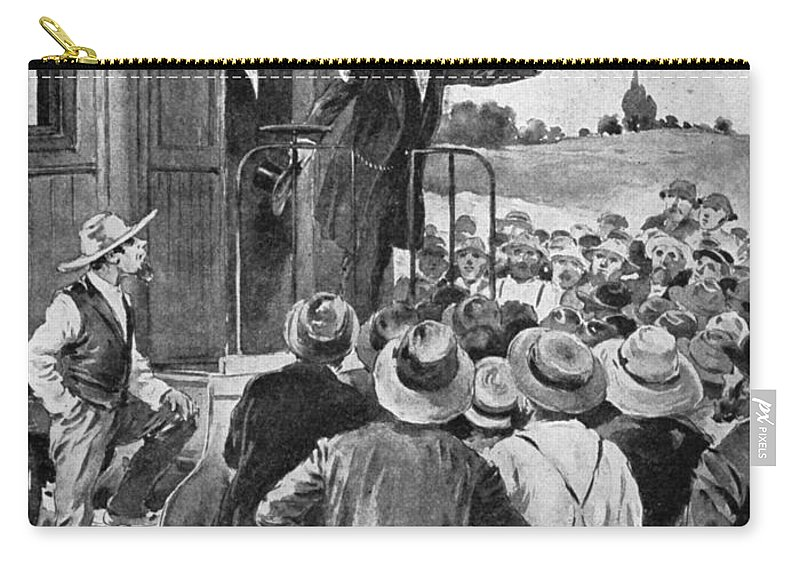 1866 Carry-all Pouch featuring the photograph Andrew Johnson (1808-1875) by Granger