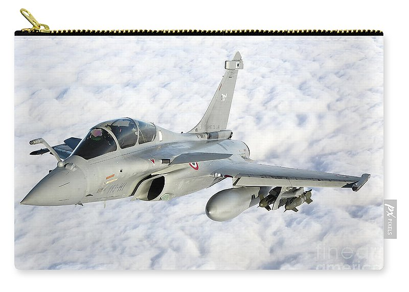 French Air Force Carry-all Pouch featuring the photograph Dassault Rafale B Of The French Air by Gert Kromhout