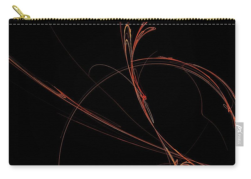 Background Carry-all Pouch featuring the digital art Fractal by Henrik Lehnerer