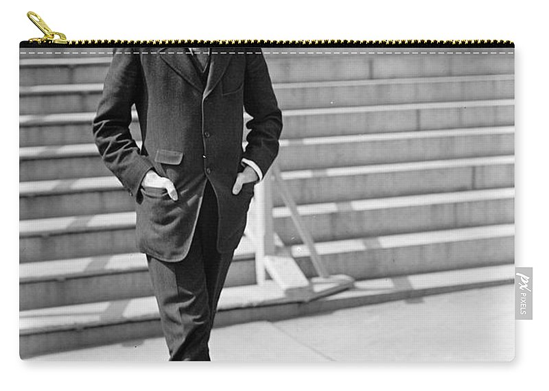 1913 Carry-all Pouch featuring the photograph Franklin Delano Roosevelt by Granger