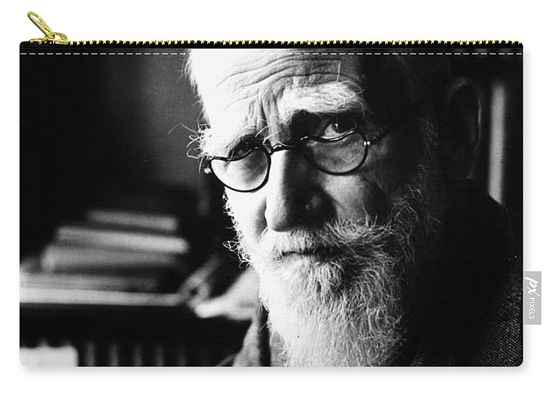 19th Century Carry-all Pouch featuring the photograph George Bernard Shaw by Granger