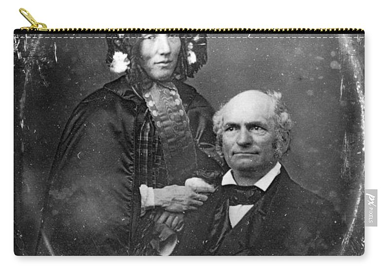 1852 Carry-all Pouch featuring the photograph Harriet Beecher Stowe by Granger