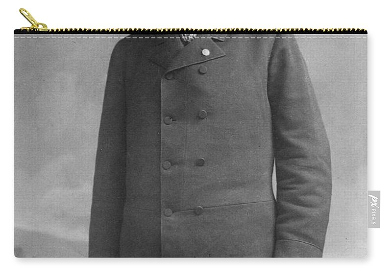 1890 Carry-all Pouch featuring the photograph John C. Fremont (1813-1890) by Granger