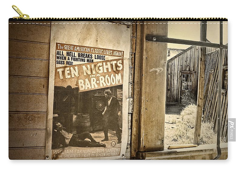 Southwest Carry-all Pouch featuring the photograph 10 Nights In A Bar Room by Scott Norris