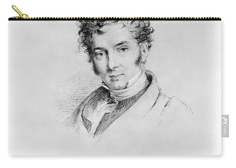 19th Century Carry-all Pouch featuring the photograph Washington Irving by Granger