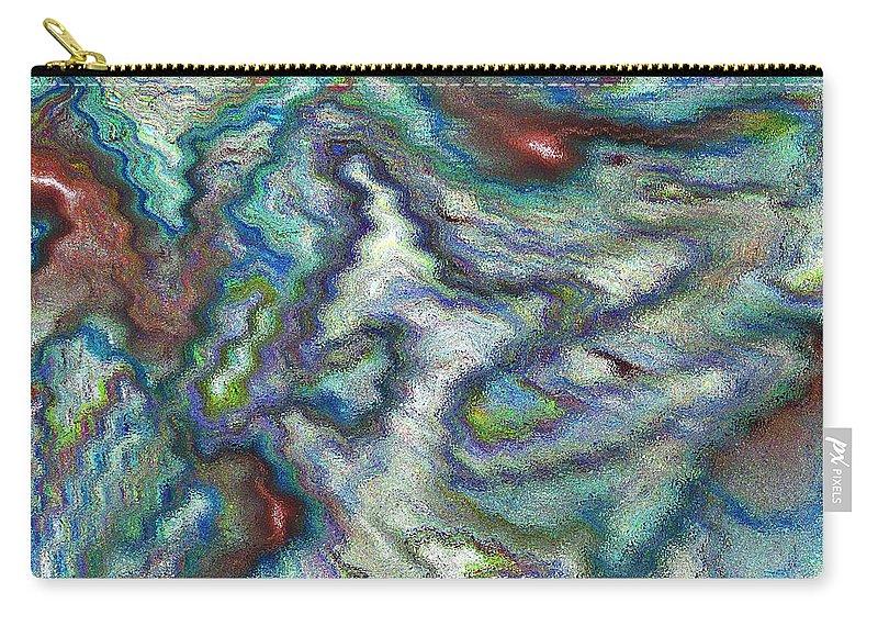 Digital Carry-all Pouch featuring the digital art Abstract Art by David Pyatt