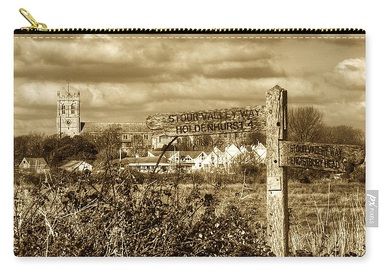 Mudeford Carry-all Pouch featuring the photograph Christchurch Priory by Chris Day