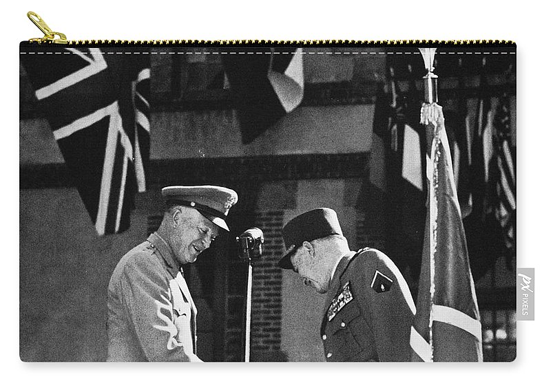 1952 Carry-all Pouch featuring the photograph Dwight D. Eisenhower by Granger