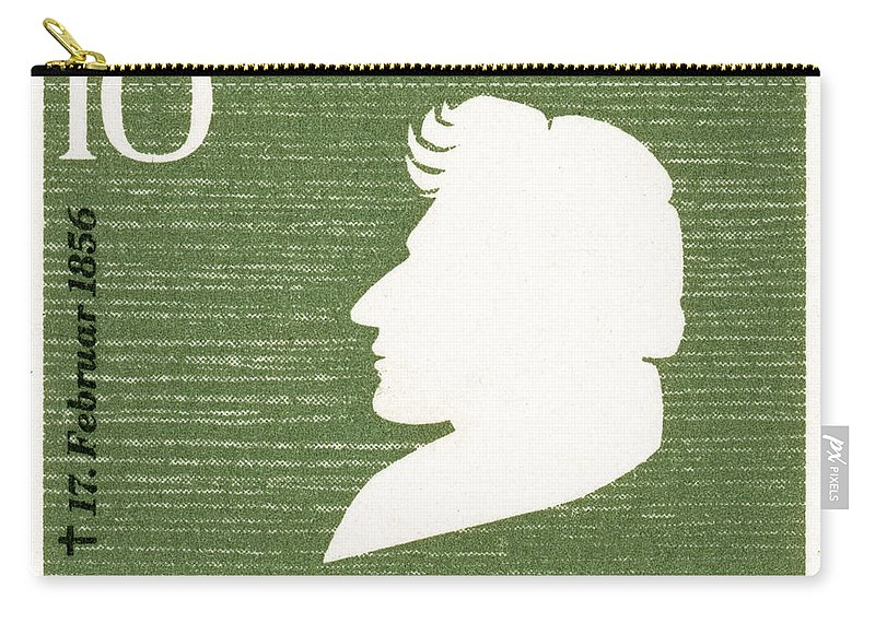 1856 Carry-all Pouch featuring the photograph Heinrich Heine (1797-1856) by Granger