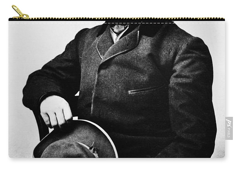 1862 Carry-all Pouch featuring the photograph Nathaniel Hawthorne by Granger
