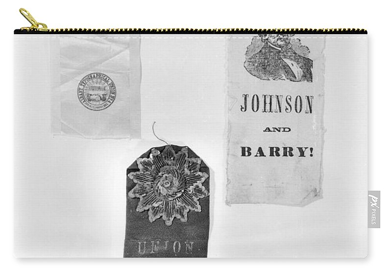 1860 Carry-all Pouch featuring the photograph Presidential Campaign, 1860 by Granger