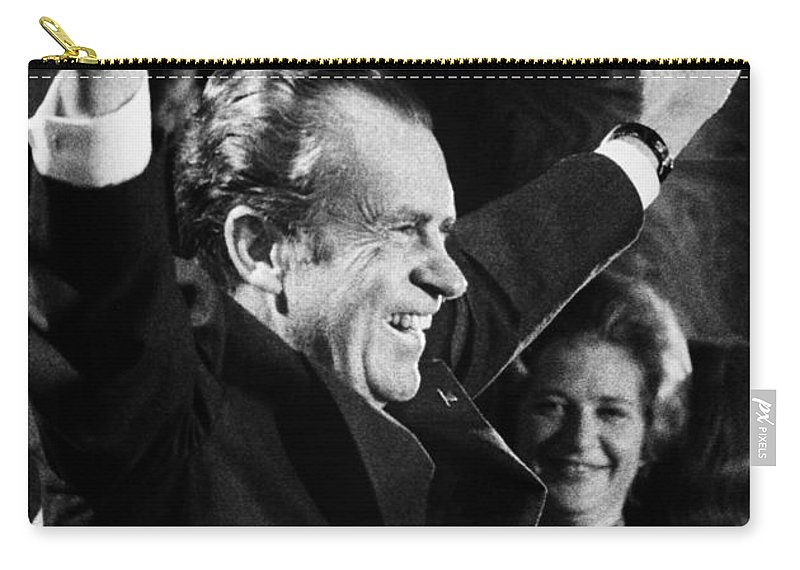 1974 Carry-all Pouch featuring the photograph Richard Nixon (1913-1994) by Granger