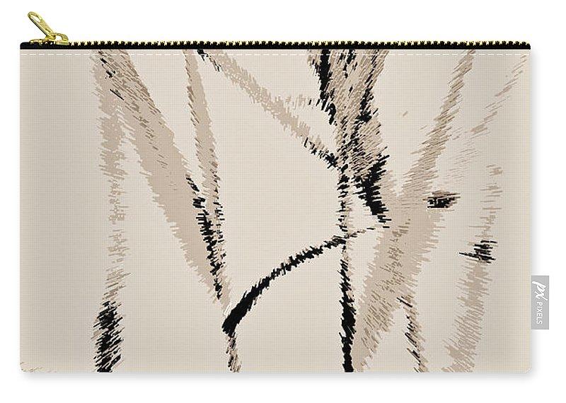 Art Carry-all Pouch featuring the digital art Water Reed Digital Art by David Pyatt