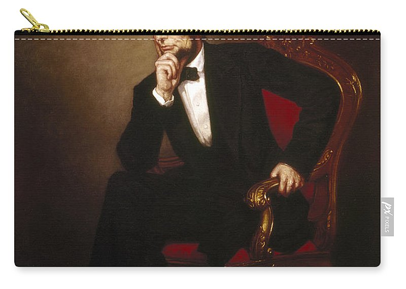 1869 Carry-all Pouch featuring the photograph Abraham Lincoln (1809-1865) by Granger