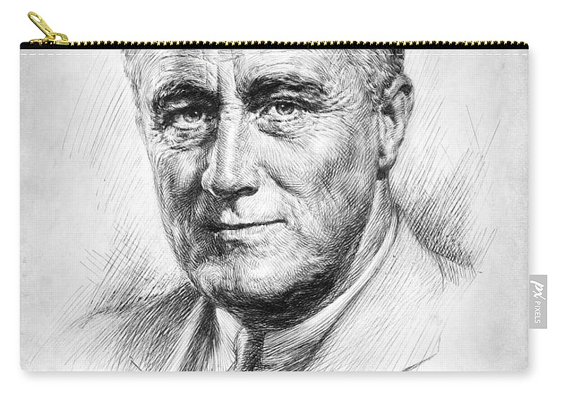 1933 Carry-all Pouch featuring the photograph Franklin Delano Roosevelt by Granger