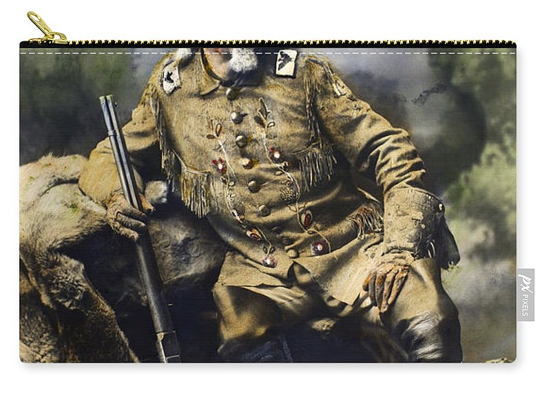 1900 Carry-all Pouch featuring the photograph William F. Cody (1846-1917) by Granger