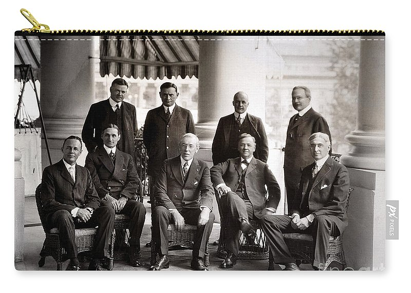 1910s Carry-all Pouch featuring the photograph Woodrow Wilson (1856-1924) by Granger