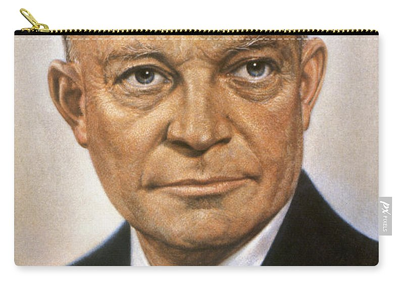 1950s Carry-all Pouch featuring the photograph Dwight D. Eisenhower by Granger