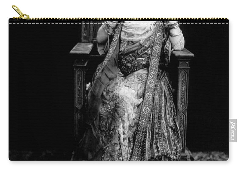 1917 Carry-all Pouch featuring the photograph Sarah Bernhardt (1844-1923) by Granger